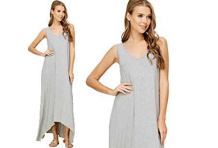 Daily maxi jurk | De ideale basic verkrijgbaar in maar liefst 11 kleuren  Grijs