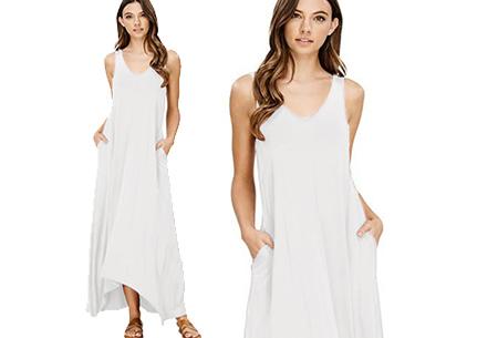 Daily maxi jurk | De ideale basic verkrijgbaar in maar liefst 11 kleuren  Wit