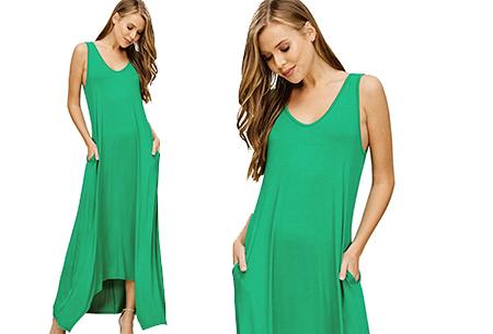 Daily maxi jurk | De ideale basic verkrijgbaar in maar liefst 11 kleuren  Groen