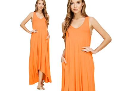 Daily maxi jurk | De ideale basic verkrijgbaar in maar liefst 11 kleuren  Oranje
