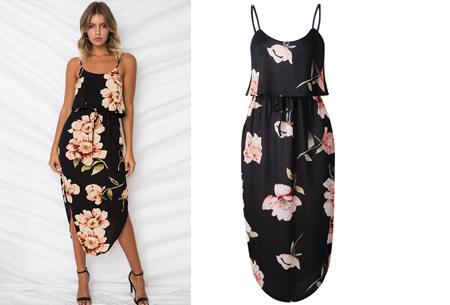 Overlay flower jurk in 15 prints | Prachtige zomerjurk met bloemenprint #A