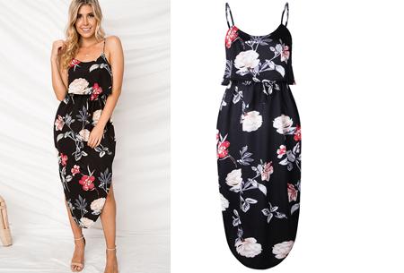 Overlay flower jurk in 15 prints | Prachtige zomerjurk met bloemenprint #B
