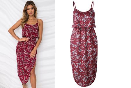 Overlay flower jurk in 15 prints | Prachtige zomerjurk met bloemenprint #J
