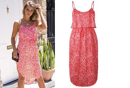Overlay flower jurk in 15 prints | Prachtige zomerjurk met bloemenprint #K