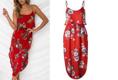 Overlay flower jurk in 15 prints | Prachtige zomerjurk met bloemenprint #L