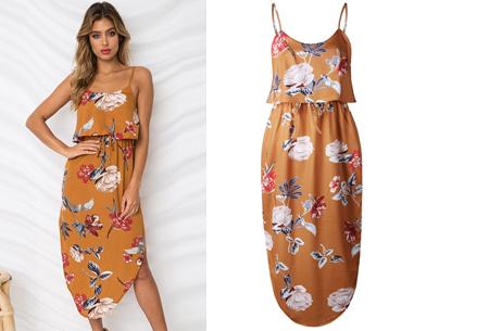 Overlay flower jurk in 15 prints | Prachtige zomerjurk met bloemenprint #M