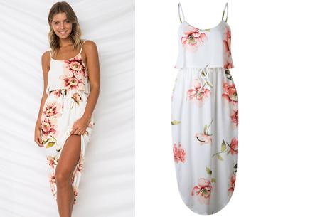 Overlay flower jurk in 15 prints | Prachtige zomerjurk met bloemenprint #N