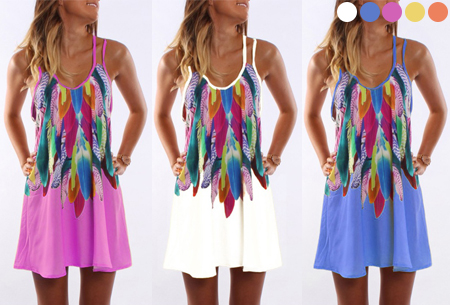 Colorful feather jurk