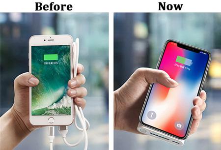 Qi wireless powerbank 10.000 mAh | Overal en altijd je telefoon draadloos opladen
