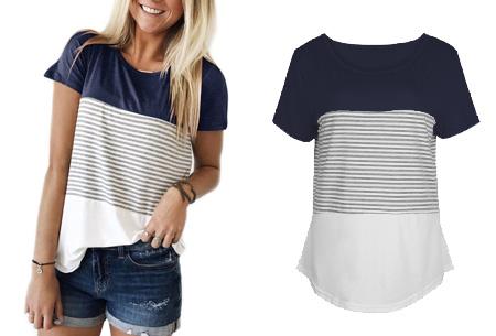 Striped T-shirt  | Verkrijgbaar in 7 kleuren in maat S t/m 2XL  blauw