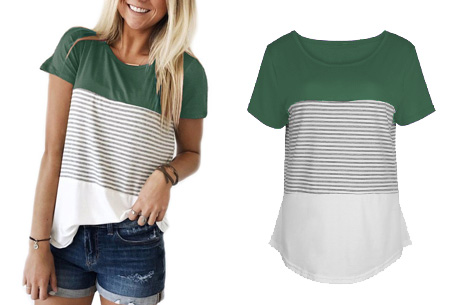 Striped T-shirt  | Verkrijgbaar in 7 kleuren in maat S t/m 2XL  groen