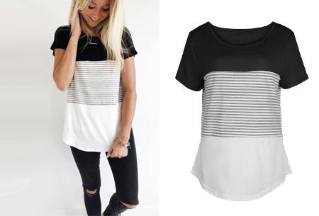 Striped T-shirt  | Verkrijgbaar in 7 kleuren in maat S t/m 2XL  zwart