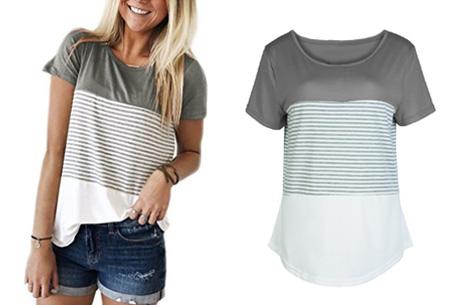 Striped T-shirt  | Verkrijgbaar in 7 kleuren in maat S t/m 2XL  grijs