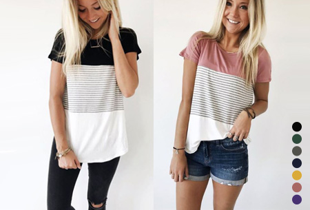 Striped T-shirt in de aanbieding