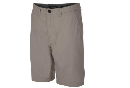 Pierre Cardin korte broeken | Trendy Chino shorts voor heren van 100% katoen Charcoal