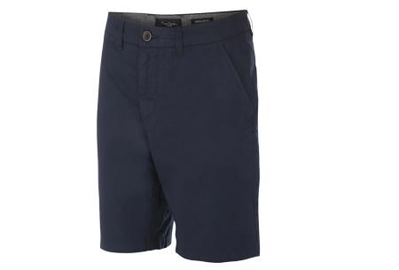 Pierre Cardin korte broeken | Trendy Chino shorts voor heren van 100% katoen Navy