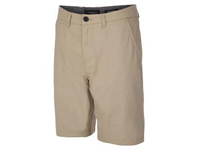 Pierre Cardin korte broeken | Trendy Chino shorts voor heren van 100% katoen Stone