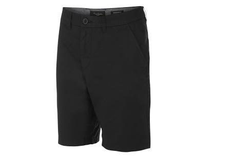 Pierre Cardin korte broeken | Trendy Chino shorts voor heren van 100% katoen Zwart
