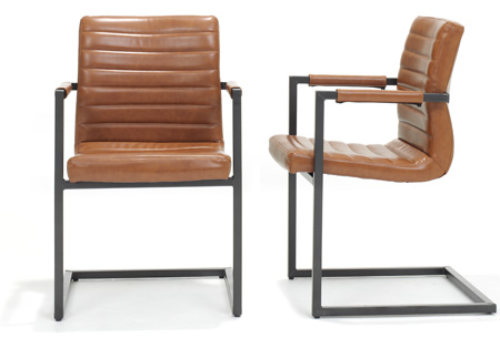 2 stuks swinger design eetkamerstoelen for Design eetkamerstoelen outlet