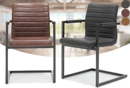 2 stuks Swinger design eetkamerstoelen