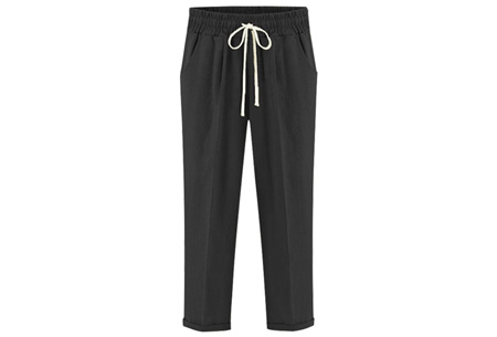 Comfy broek | Verkrijgbaar in de maten XS t/m 3XL!  zwart