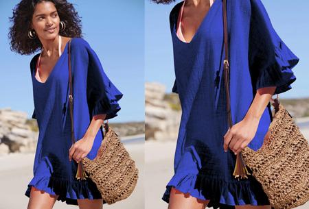 Ruffle tuniek | Een echte zomerse musthave! Blauw