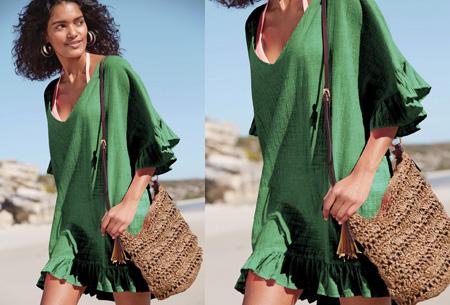 Ruffle tuniek | Een echte zomerse musthave! Groen