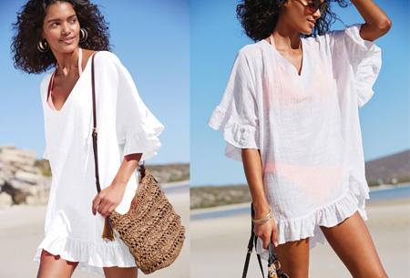 Ruffle tuniek | Een echte zomerse musthave! Wit