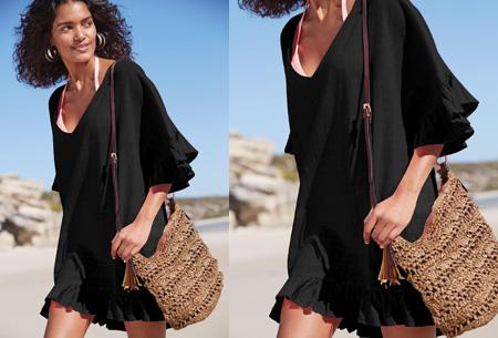 Ruffle tuniek | Een echte zomerse musthave! Zwart