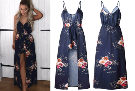 Playsuit dress in 6 kleuren | Stijlvolle, originele combi van een jurk en een playsuit! navy