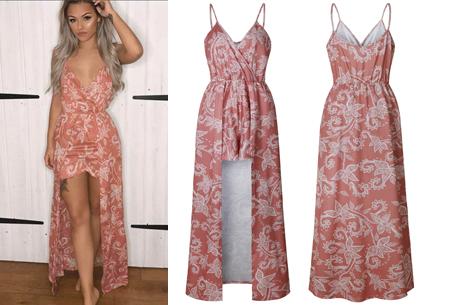 Playsuit dress in 6 kleuren | Stijlvolle, originele combi van een jurk en een playsuit! koraalroze