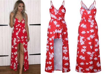 Playsuit dress in 6 kleuren | Stijlvolle, originele combi van een jurk en een playsuit! rood #1