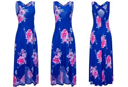 Flower maxi jurk | Lange zwierige jurk met fleurige bloemenprint!