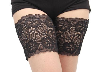 Kanten anti-schuur kousenband | Sexy en comfortabel B zwart