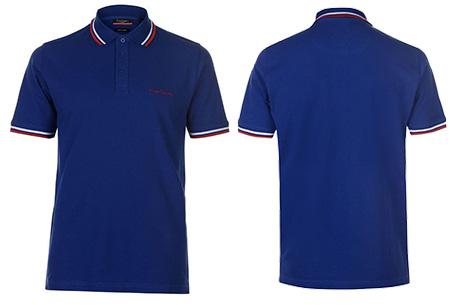 Pierre Cardin polo's met streep Maat S - Donkerblauw