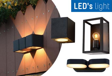 50% korting LED's Light buitenlampen