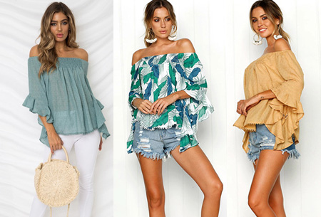 Dagaanbieding: 68% korting – Boho off shoulder top