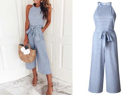 Stripe jumpsuit | Ideale outfit voor de zomermaanden lichtblauw