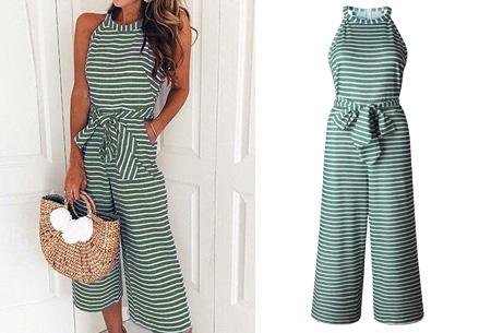 Stripe jumpsuit | Ideale outfit voor de zomermaanden groen