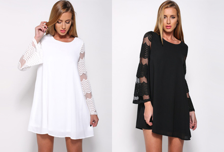 Dagaanbieding: Lace sleeve jurk nu in de sale