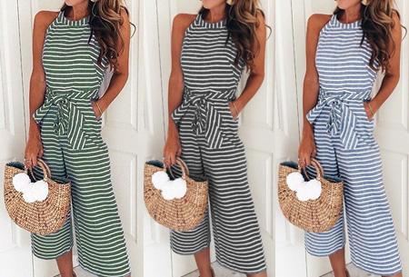 Stripe jumpsuit | Ideale outfit voor de zomermaanden