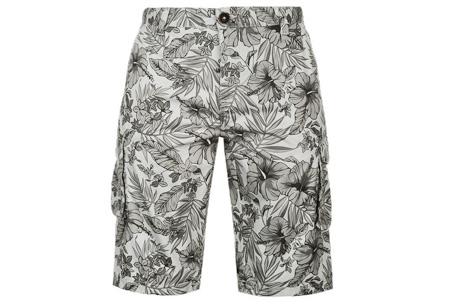 Pierre Cardin korte broeken | Heren shorts van 100% katoen - Nu nóg goedkoper! Flower Grijs
