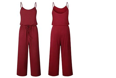 Comfy jumpsuit | Verkrijgbaar in maar liefst 13 verschillende kleuren/prints #3 Wijnrood