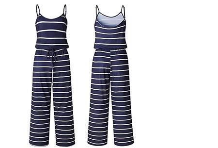 Comfy jumpsuit | Verkrijgbaar in maar liefst 13 verschillende kleuren/prints #6 Stripe Navy
