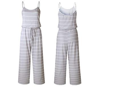Comfy jumpsuit | Verkrijgbaar in maar liefst 13 verschillende kleuren/prints #7 Stripe Grijs