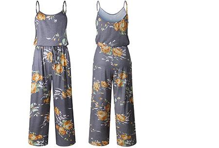 Comfy jumpsuit | Verkrijgbaar in maar liefst 13 verschillende kleuren/prints #12 Flower Geel