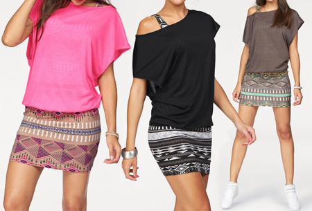 Dagaanbieding: Two piece Aztec kledingset | Jurk + top