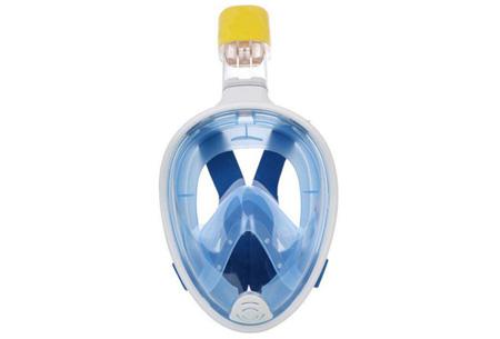 Snorkelmasker met aansluiting voor GoPro    Ontdek het waterparadijs op een comfortabele manier Blauw