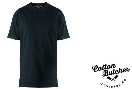 Cotton Butcher longfit T-shirts 3-pack  | Topkwaliteit lange shirts van 100% katoen voor mannen! zwart ronde hals