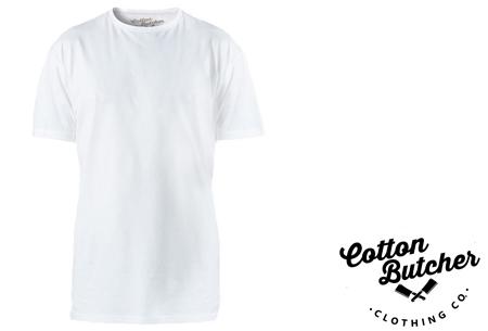 Cotton Butcher longfit T-shirts 3-pack  | Topkwaliteit lange shirts van 100% katoen voor mannen! wit ronde hals